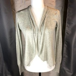 Anthro Angel of the North Gray Cascade Cardigan S